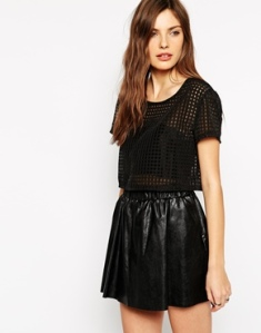 Rock & Religion Oversized Organza Cropped Top, ASOS