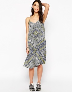 Brave Soul Printed Loose Fit Sun Dress, ASOS