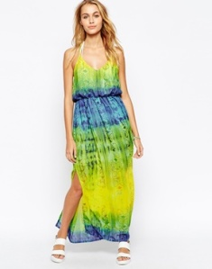 Liquorish Tie Dye Maxi Dress with Racerback Detail, ASOS