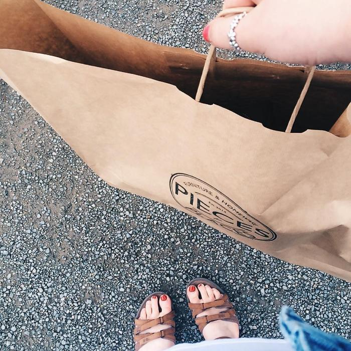 Shopping from Pieces for Places