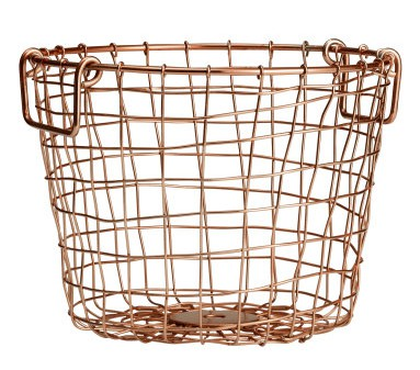 H&M Bronze Small Wire Basket